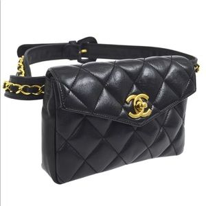 1c22adc2753d CHANEL. Vintage Chanel Quilted Chain Belted Waist/Bum Bag